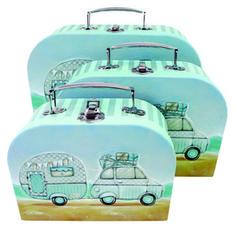Mini Caravan Suitcase set