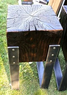 Reclaimed Wood/Steel furniture - Rustic - Bar Stools And Counter ...