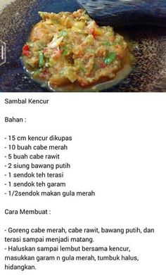 Sambal Kencur Spicy Recipes, Asian Recipes, Cooking Recipes, Healthy Recipes, Ethnic Recipes, Sambal Sauce, Sambal Recipe, Food N, Food And Drink