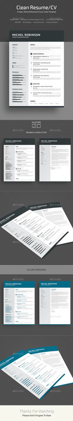 Resume by deviserpark Minimal and Clean Resume Template, A Clean Cover Letter. You can show your professionalism only with a Professional Resume. College Resume Template, Simple Resume Template, Resume Design Template, Creative Resume Templates, Cv Template, Job Resume, Resume Tips, Cv Original, Free Resume Examples