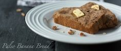 Paleo Banana Bread  | Civilized Caveman Cooking Creations- used flax eggs and added mini chocolate chips, baked in muffin tin, need to bake for at least 45 min, otherwise very mushy instead. Came out moist and delicious once they set. Better the next day