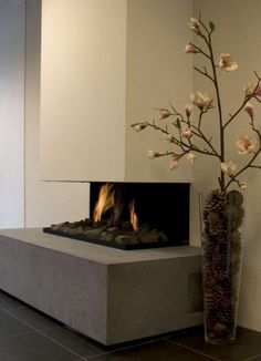 Modern built-in fireplaces - inspiring stoves, fireplaces and fireplaces, Modern built-in fireplaces - inspiring stoves, fireplaces and fireplaces. Living Room Decor Fireplace, Modern Fireplace, Fireplace Design, Stove Fireplace, Interior Decorating, Interior Styling, New Homes, House Design, Inspiration