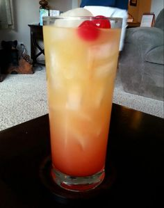 "Pineapple upside down cake drink! 5.00 stars, 1 reviews. ""Fruity goodness!"" @allthecooks #recipe"