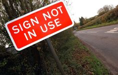 Government Plans Crackdown On Unnecessary Road Signs