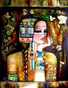 My philosophy is: It's none of my business what people say of me, and think of me. I expect nothing, and accept everything. And it makes life so much easier. ~ Anthony Hopkins Art © Lamis Al Hamwi Gustav Klimt, Art And Illustration, Middle Eastern Art, Arabian Art, Figurative Kunst, Art Graphique, Islamic Art, Indian Art, Oeuvre D'art