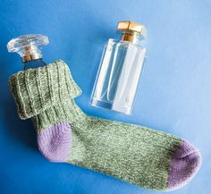 Protect breakables such as glass fragrance bottles by slipping them into socks before packing them.