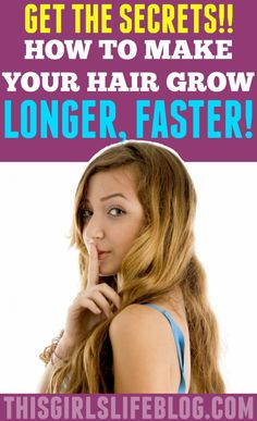 Wanting to make your hair grow? Get the secrets to getting it to grow longer, faster.
