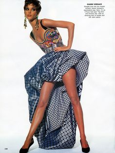 1990-91 - Christy Turlington in Atelier Versace by Irving Penn for Vogue
