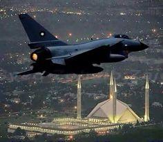 Pakistan Air force jet petroling in Islamabad.