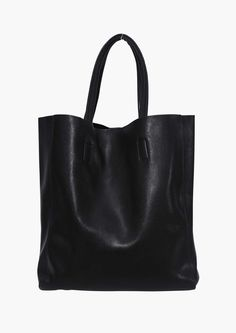 Seline Faux Leather Tote in Black | Necessary Clothing