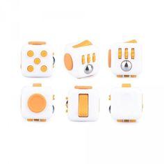 Anti-stress : Fidget Cube - Orange et Blanc - EuroToys-34557