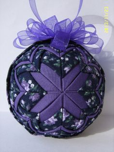 Your place to buy and sell all things handmade Quilted Christmas Ornaments, Christmas Fabric, Christmas Crafts, Fabric Balls, Fabric Ribbon, Quilted Fabric Ornaments, Gift Wraping, Homemade Ornaments, Malva