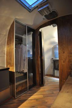 Nice Closet. (AIRSTREAM Architect Series: Overlander 1967 Conversion: After - airstreamarchitect.blogspot.com)