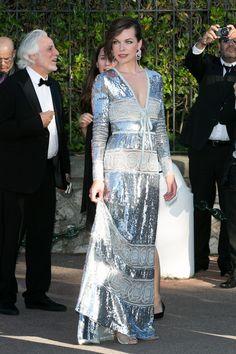 Milla Jovovich en Elie Saab haute couture