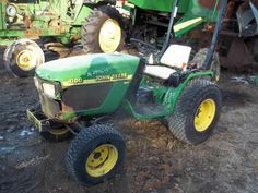 John Deere 4100 tractor salvaged for used parts. This unit is available at All States Ag Parts in Ft. Atkinson, IA. Call 877-530-3010 parts. Unit ID#: EQ-23956. The photo depicts the equipment in the condition it arrived at our salvage yard. Parts shown may or may not still be available. http://www.TractorPartsASAP.com