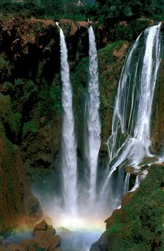 Morocco waterfalls.  I want to visit waterfalls around the world!!!