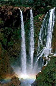 Morocco waterfalls. I want to visit waterfalls around the world!!!  Travel Share and enjoy! #arabiandate