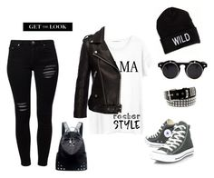 """ROck"" by sarabutterfly on Polyvore featuring mode, Converse, Gestuz, Junk Food Clothing, Anine Bing, American Eagle Outfitters, Chicnova Fashion, rockerchic et rockerstyle"