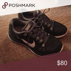 Black Nike LunarGlide 5 Black and Grey Nike sneakers in great condition.  Nike Shoes Athletic
