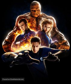 Fantastic Four key art Jessica Alba Fantastic Four, Fantastic Four Movie, Fantastic Four Comics, Marvel Comic Universe, Marvel Dc Comics, Ms Marvel, Captain Marvel, Hero Poster, Fourth World
