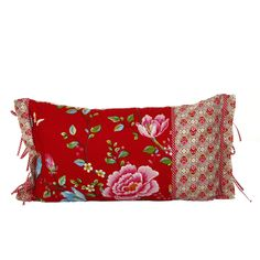 Discover the Pip Studio Morning Glory Red Cushion - 35 x 60cm at Amara