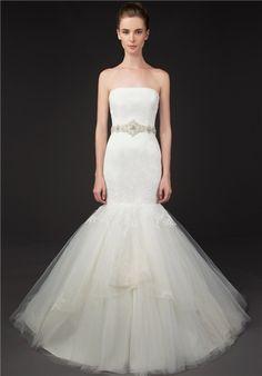 Bridal Gown Inspiration a board by www.myfauxdiamond.com #myfauxdiamond #weddings #jewelry  Winnie Couture 8432 Gabby