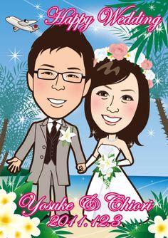 ウェルカムボード 似顔絵 http://wedding.mypic.jp/data/251