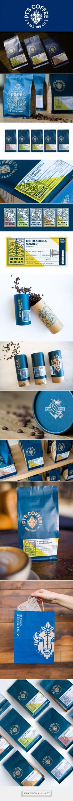 PT's Coffee Roasting Co. Branding and Packaging by Carpenter Collective | Fivestar Branding Agency – Design and Branding Agency & Curated Inspiration Gallery #coffee #coffeepackaging #packaging #package #packagedesign #packaginginspiration #design #designinspiration