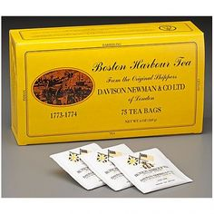Boston Harbour Tea - delicious breakfast blend available in a 25 or 5 bag box - by Mark T. Wendell Tea Company