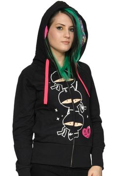 NewBreed Girl - Ninja Stack Hoody #AttitudeClothingCo $74.85 (Free wristband while stocks last; design chosen at random)