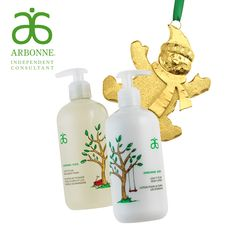 How adorable is this kids' bath and body set for the holidays? Love Arbonne's creativity, and they never forget about the whole family! #Arbonne #ArbonneHoliday