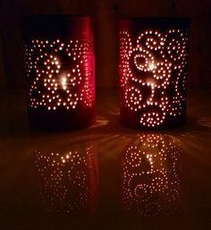 Diy Tin can lanterns . peltipurkkilyhdyt - Tuunausta ja tekeleitä