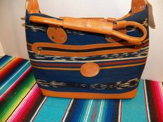 King's Brand Aztec Southwestern Blue Satchel Women's Western Shoulder Bag Purse | eBay