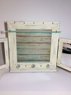 Jewelry organizer frame, deluxe jewelry organiser, rustic timber Earring display, jewelry stand, coastal decor frame by PicToFrame on Etsy