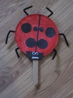 The Grouchy Ladybug (Eric Carle paper plate craft)