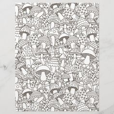 Spend some time relaxing with this coloring page for adults. You can  select paper type and size from the menu. Put the finished coloring page  in a journal or frame it to hang on your wall. Great way to destress. #zazzlemade #coloring #coloringpage #coloringpattern #scrapbook #scrapbooking #scrapbookpaper #journal #journaling #journalpage#mushrooms Unique Coloring Pages, Coloring Book Pages, Ways To Destress, Scrapbook Paper, Scrapbooking, Crayon Painting, Get Well Gifts, Lake Erie, Cleveland Ohio