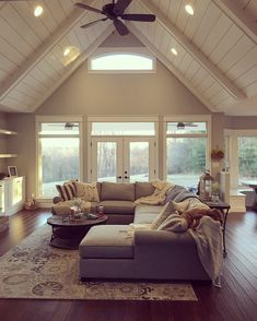 33 Stunning Farmhouse Living Room Lamps Design Ideas And Decor Dream House Ideas Decor Design Farmhouse Ideas Lamps Living Room Stunning My Living Room, Home And Living, Small Living, Windows In Living Room, Rustic Living Rooms, Cottage Living Room Decor, Living Room Country, Modern Living, Cool Living Room Ideas