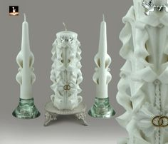 Wedding Unity Candles | Unique Carved Christmas Candles for Sale - Hand Carved Candles
