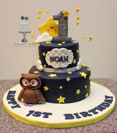 twinkle little star owl cake - Google Search