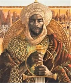 Mansa Musa, the century ruler of Mali, was renowned around the world for his breathtaking wealth and uncontrolled spending African Life, African History, African Art, African Empires, African Paintings, Mecca Images, Journey To Mecca, Black Royalty, Native American Images