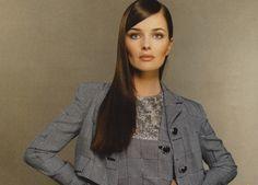 Paulina Porizkova in grey.
