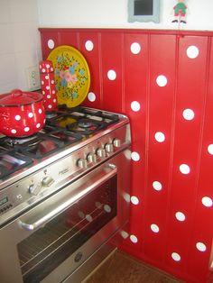 My kitchen    rood met witte stippen