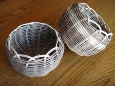 A couple of baskets I made while teaching other parents in our American Indian program how to weave, Cherokee style