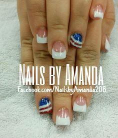 4 th of July nails art Nails by Ananda 208