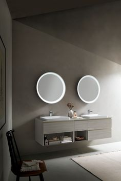 It can be customized by choosing the external lacquered color according to your style, it is tilting and equipped with an integrated backlight. Its soft lines harmoniously complete the furnishings creating a welcoming atmosphere. Moon Mirror, Wall, Furniture, Color, Design, Home Decor, Style, Swag, Decoration Home