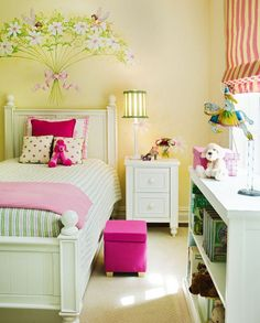 Molly like stool, but not this color, and it has to be fuzzy!!  Girls Bedroom Design #girlsbedroom #girls #bedroom