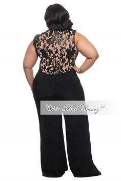 eee03991260 Final Sale Plus Size Jumpsuit with Sequin Detailed Top in Black