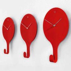 Wall Clock plus Coat Hanger from Diamantini & Domeniconi - Pascal Tarabay design