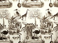 African Jungle in Earth on Natural Cotton Twill #callofthewild