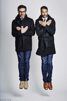 Deadly duo: Flight Of The Conchords star Jemaine Clement (L) and Waititi (R) wrote the fil...